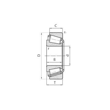 375-S/372A تناقص الأسطوانة المحامل