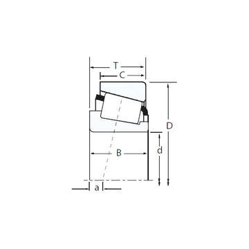 HM 89446/2/410/2/QCL7C تناقص الأسطوانة المحامل